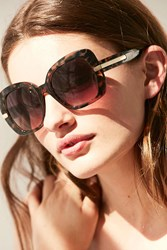 Urban Outfitters Bohemian Square Sunglasses Brown