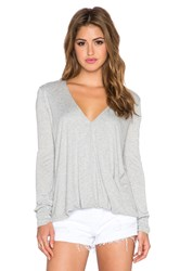 Blue Life Long Sleeve Cassidy Top Gray