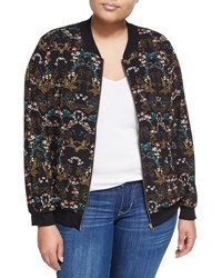 Chelsea And Theodore Plus Floral Print Bomber Jacket Multi Pattern