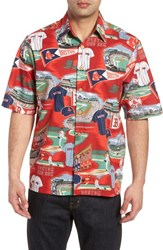 Reyn Spooner Boston Red Sox Classic Fit Camp Shirt Scenic