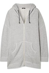 R 13 R13 Oversized Cotton Terry Hooded Top Stone