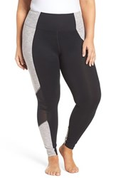 Marika Plus Size Women's Curves Xtreme Colorblock Leggings Black Vapor Blue