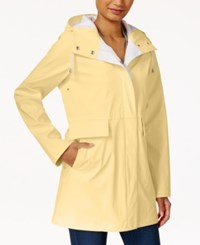 Rachel Roy Two Tone Raincoat Only At Macy's Lemon Yellow Summer White
