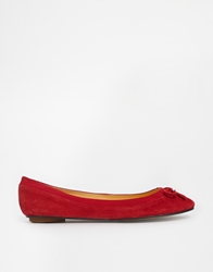 Buffalo Red Suede Ballerina Flat Shoes