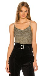 A.L.C. Rosie Top In Metallic Gold. Black And Gold