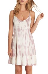 Billabong Women's Last Chance Tie Dye Skater Dress White Cap
