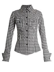 Marques Almeida Gingham Western Shirt Black White