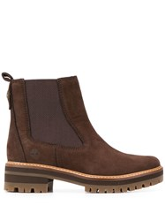 Timberland Ridged Sole Ankle Boots Brown
