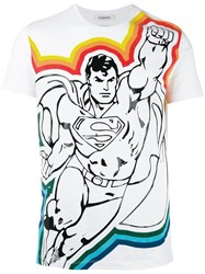 Iceberg Superman Print T Shirt White