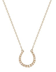 Lord And Taylor 14K Yellow Gold Diamond Horse Shoe Necklace Diamond Gold