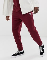 Converse Small Logo Joggers In Red 10008815 A11