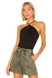Krisa Twist Front Bodysuit Black
