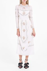 Vilshenko Women S Sofia Embroidered Voile Dress Boutique1 Ivory