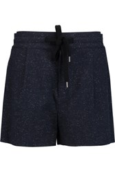 See By Chloe Cotton Blend Shorts Midnight Blue