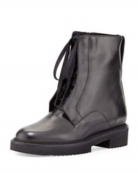 Vince Connelly Leather Combat Boot Black