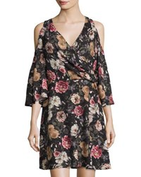 Alexia Admor Cold Shoulder Floral Print Dress Multi
