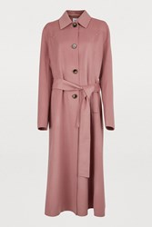 Nanushka Sira Coat Dusty Pink