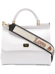 Dolce And Gabbana Sicily Tote Bag White