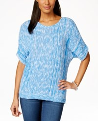 Ny Collection Petite Marled Dolman Sleeve Sweater