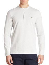 Lacoste Long Sleeve Henley Flour Silver Chine