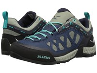 Salewa Firetail 3 Dark Denim Aruba Blue Women's Shoes Gray
