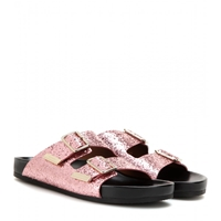 Givenchy Glitter Sandals Pink Black