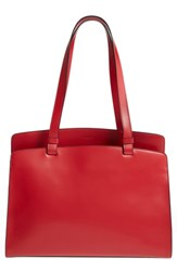 Lodis Jana Work Leather Tote Red
