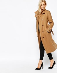Oasis Military Trench Coat Camel