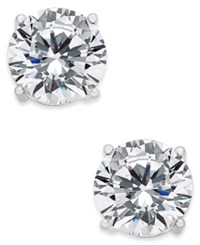Joan Boyce Cubic Zirconia Stud Earrings Silver