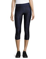 Under Armour Printed Cropped Leggings Blue