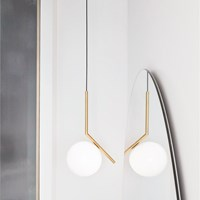 Flos Ic S1 Suspension Light Brushed Brass