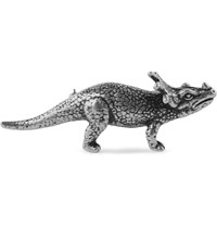 Saint Laurent Silver Tone Triceratops Badge