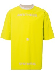 Ex Infinitas Anti Synth Round Neck T Shirt Green