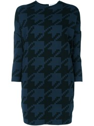 Gianluca Capannolo Houndstooth Pattern Pullover Blue