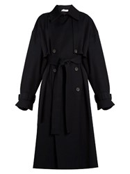 Raey Displaced Sleeve Oversized Trench Coat Navy