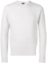 Tom Ford Cashmere Crew Neck Sweater Grey