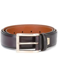 Santoni Classic Belt Pink And Purple