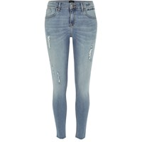 River Island Womens Light Blue Ripped Amelie Super Skinny Jeans