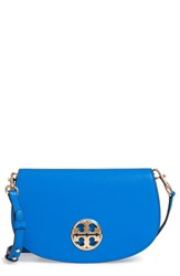 Tory Burch Jamie Convertible Leather Clutch Blue Green Galleria Blue
