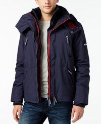 Superdry Men's Windyachter Hooded Coat Nautical Navy