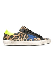 Golden Goose Deluxe Brand Leopard Print Trainers Multicolour