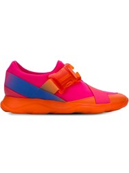 Christopher Kane Safety Buckle Sneakers Pink And Purple