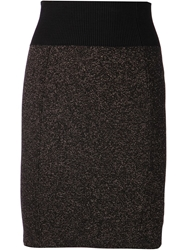 Alexandre Vauthier Pencil Skirt Black
