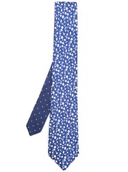 Canali Floral Pattern Tie Blue