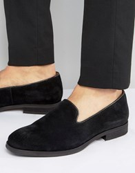 Selected Suede Smart Loafers Black