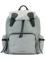 Burberry Buckled Backpack Grey