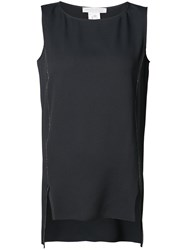 Fabiana Filippi High Low Hem Tank Top Women Silk Acetate 40 Black