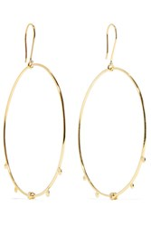 Scosha Paradise Gold Tone Stone Hoop Earrings One Size