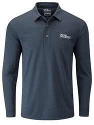 Oscar Jacobson Hubert Tour Long Sleeve Polo Dark Blue