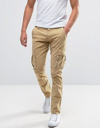 Selected Homme Slim Fit Cargo Trouser Sand Beige